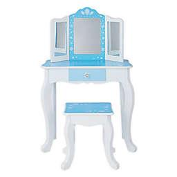 Teamson Kids Snowflakes Toy Vanity Set in Blue
