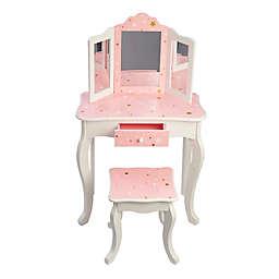 Teamson Kids Twinkle Star Toy Vanity Set in Pink