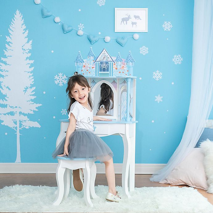 Alternate image 1 for Teamson Kids Dream Castle Toy Vanity Set in White/Blue