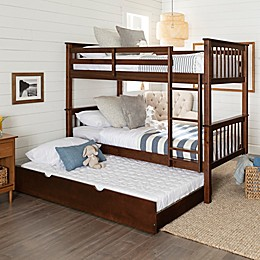 Forest Gate™ Charlotte Twin Bunk Bed with Trundle in Walnut