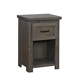 Learwood 1-Drawer Nightstand with USB Port in Gunsmoke
