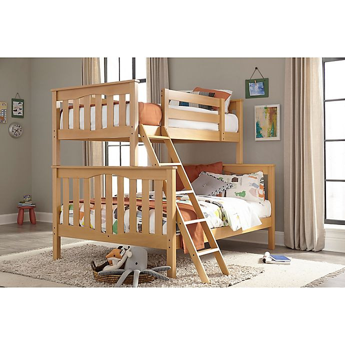Alternate image 1 for Epoch Twin Over Full Bunk Bed in Natural