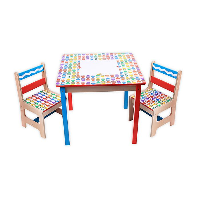 Alternate image 1 for Crayola® 3-Piece Wooden Table and Chair Set