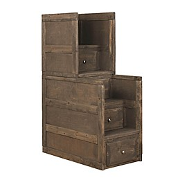 Monroe 4-Drawer Stairway Chest Gun Smoke
