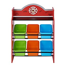 Fantasy Fields Firefighters Toy Organizer with Storage Bins in Red