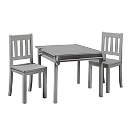 Imagination 3-Piece Table and Chairs Set in Grey