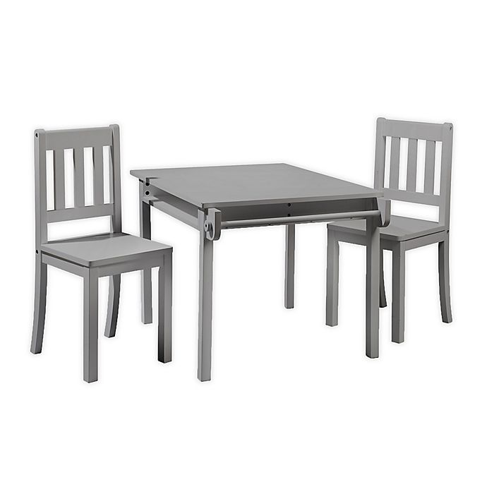 Alternate image 1 for Imagination 3-Piece Table and Chairs Set in Grey