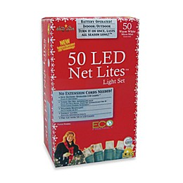 Brite Star 50-Count Battery Operated Warm White LED Micro Mini Net Lights Set