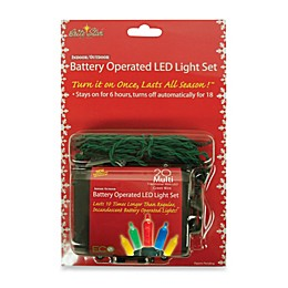 Brite Star Battery Operated 20 Multicolor Mini LED Light Set with Timer
