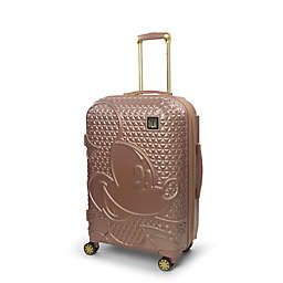 ful® Disney® Mickey 25-Inch Hard Side Spinner Checked Luggage in Rose Gold
