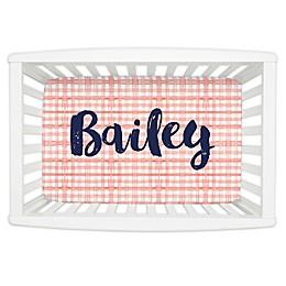 Carousel Designs® Watercolor Plaid Mini Fitted Crib Sheet