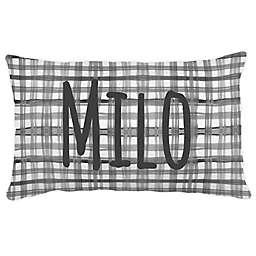 Carousel Designs® Watercolor Plaid Lumbar Pillow