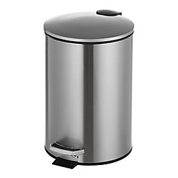 Stainless Steel 6.5-Liter Step-On Trash Can
