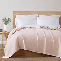 Under The Canopy® Organic Cotton Matelasse King Blanket in Blush