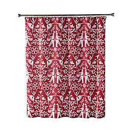 Vern Yip by SKL Home Christmas Carol Shower Curtain in Red