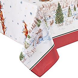 Elrene Home Santa's Snowy Sleigh Ride Tablecloth