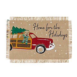 Elrene Home for the Holidays Burlap Placemats in Red/Green (Set of 4)