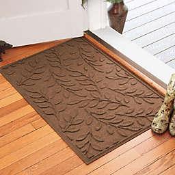 Weather Guard™ Brittney Leaf 30-Inch x 45-Inch Door Mat in Dark Brown