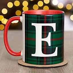 Christmas Plaid 11 oz. Coffee Mug in Red