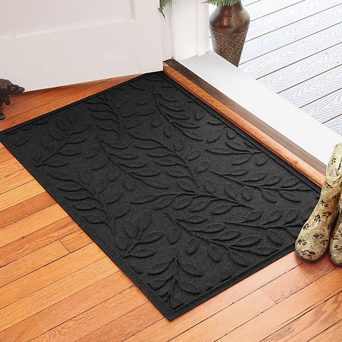 Alternate image 1 for Weather Guard™ Brittney Leaf 30-Inch x 45-Inch Door Mat in Charcoal