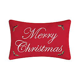 """C & F Home™ """"Merry Christmas"""" Oblong Throw Pillow in Red"""