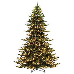 Puleo International 7.5-Foot Frasier Fir Grand Pre-Lit Christmas Tree with Clear Lights