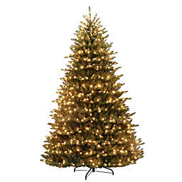 Puleo International 7.5-Foot Canadian Balsam Fir Pre-Lit Christmas Tree with Clear Lights