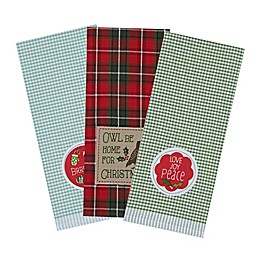 DII Owl be Christmas Embroidered Dishtowels in (Set of 6)