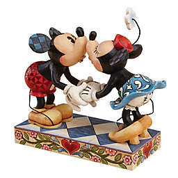 Enesco Disney® Traditions Mickey and Minnie Kissing Resin Figurine