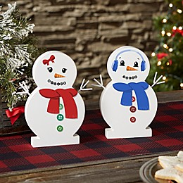 Snowman Face Personalized Wooden Snowman Collection