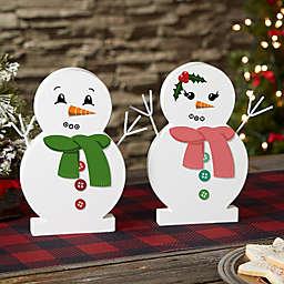 "Snowman Face Personalized 9.5"" Wooden Snowman"