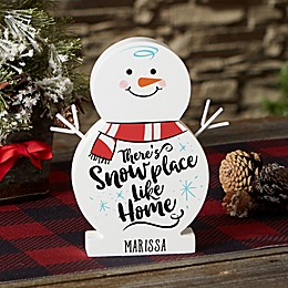 Snowplace Like Home Personalized Wood Snowman Collection
