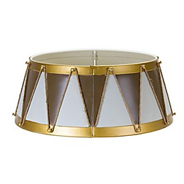 Drum Metal Christmas Tree Collar in Gold/Cream