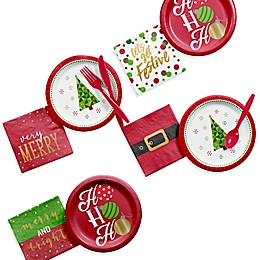 Creative Converting Christmas Cocktail 192-Piece Party Kit
