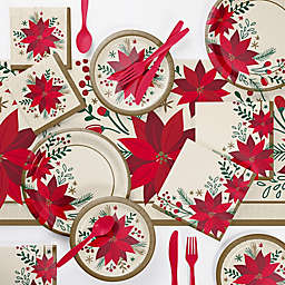 Creative Converting Modern Poinsettia Party Supplies Kit