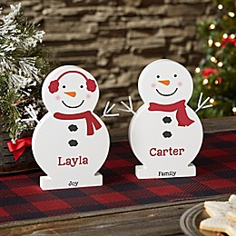 Snowman Family Personalized Wooden Snowman Collection