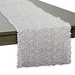 DII Sequin Mesh 16-Inch x 120-Inch Table Runner in Silver