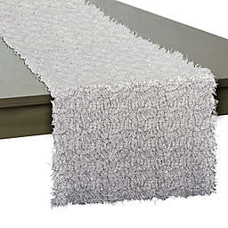 Sequin Mesh 16-Inch x 120-Inch Table Runner in Silver