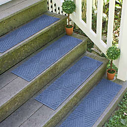 Weather Guard™  Diamonds 8.5-Inch x 30-Inch Stair Treads in Navy (Set of 2)