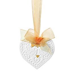 Lladro 3.5-Inch Porcelain Christmas Heart Ornament