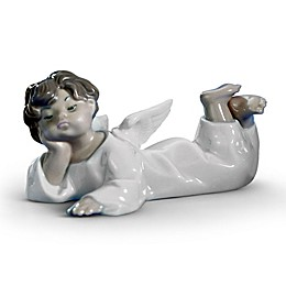 Lladró Angel Laying Down Porcelain Figurine