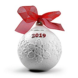 Lladro 2019 4-Inch Porcelain Christmas Ball Ornament in Red