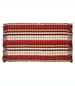 Tapete decorativo B. Smith® Silk Rib de 53.34 x 86.36 cm en bermellón