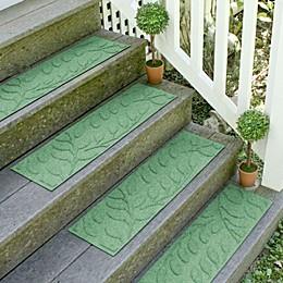 Weather Guard™  Brittney Leaf 8.5-Inch x 30-Inch Stair Treads (Set of 2)