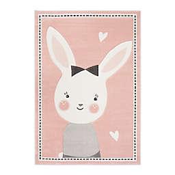 Safavieh Carousel Kids 3'3 x 5'3 Bunny Area Rug in Pink