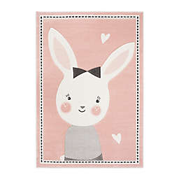 Safavieh Carousel Kids Bunny Area Rug in Pink