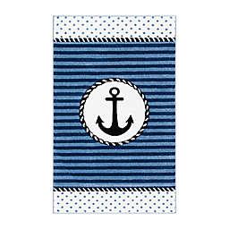 Safavieh Carousel Kids 3'3 x 5'3 Anchor Area Rug in Navy