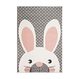 Safavieh Carousel Kids Rabbit Rug in Pink