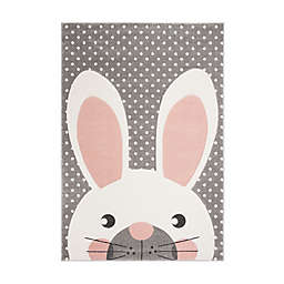 Safavieh Carousel Kids Rabbit Rug in Pink