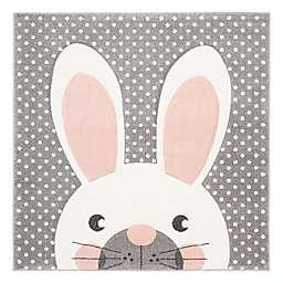 Safavieh Carousel Kids 5'3 x 5'3 Rabbit Area Rug in Pink